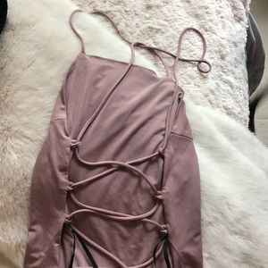 Lulu'a Lace Up Back Body Suit